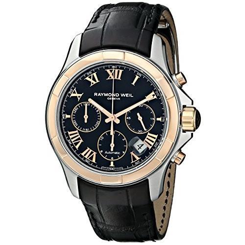 数量限定価格!! 7260-SC5-00208 Watch Raymond Faux-Leather Weil With Men's 7260-SC5-00208 Parsifal Stainless Steel Watch With Black Faux-Leather Band, カスタムショップ ダウンロー:e77d585c --- airmodconsu.dominiotemporario.com