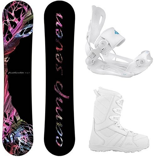 Boot Size Size 8 Camp Seven Package Featherlite Snowboard 147 cn-System Lux Bindings-Siren Lux Women's Snowboard Boots-8
