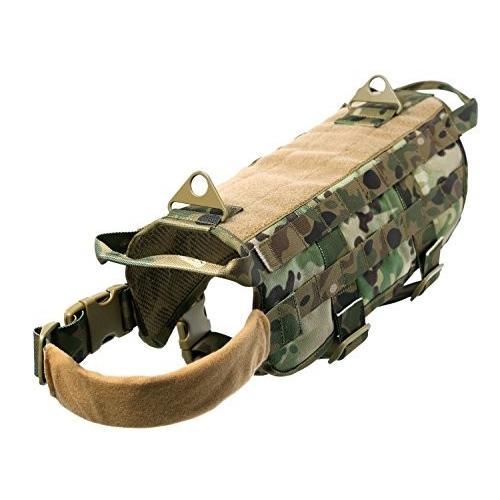 XS Pety Pet Dog Harness Tactical (Camouflauge, XS)
