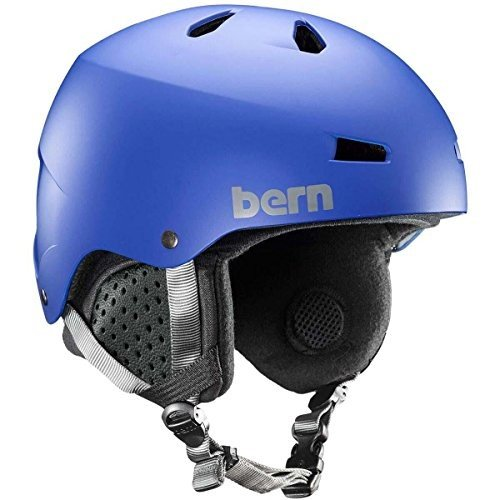 Large BERN Men's Macon MIPS Snow Helmet Matte Cobalt 青 L