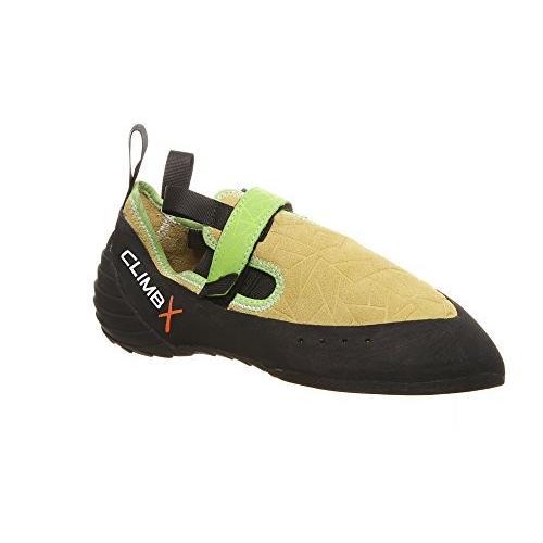 5 Climb X Zion Climbing Shoe with Free Sickle M-16 Climbing Brush (Men's 5, Yellow)