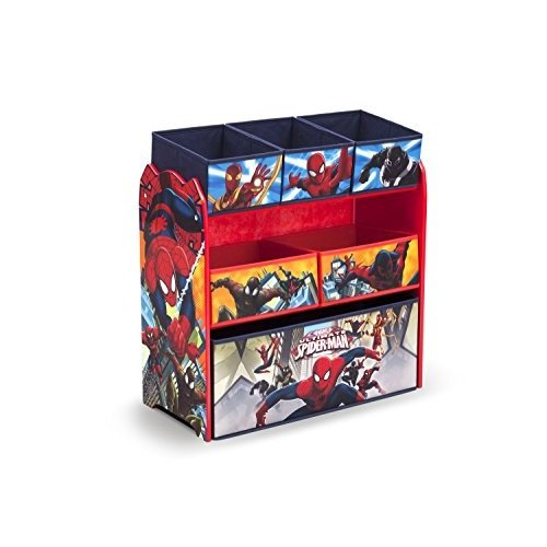 スポンジボブDelta Children 6-Bin Toy Storage Organizer, Spider-Man