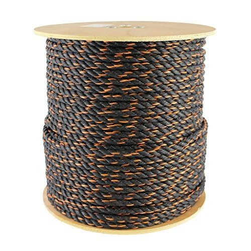 3/8 inch x 600 feet Polypro California Truck Rope (3/8 inch) - SGT KNOTS -Twisted Polypropylene Rope - Floating Rope - for Cargo S
