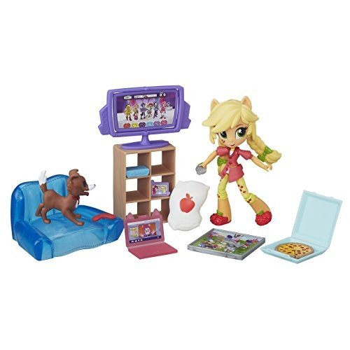 マイリトルポニーMy Little Pony Equestria Girls Minis Applejack Slumber Party Games Set
