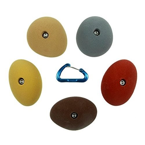 Large 5 Large Steep Wall Slopers | Bolt-on Rock Climbing Holds | Assorted Earth Tones