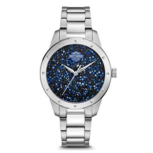 人気特価 76L188 Crystal One Size Stainless Harley-Davidson Women's Blue Crystal 76L188 Rock Sparkles Stainless Steel Watch 76L188, エピソード:3167b0b9 --- airmodconsu.dominiotemporario.com