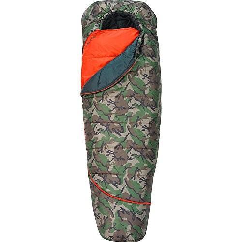 35420116SR Right Hand Kelty Boys TRU Comfort 20 Degree Sleeping Bag, Camo/Fire Orange