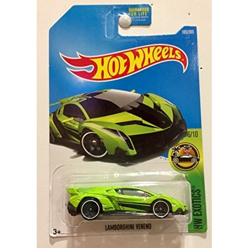Hot Wheels 2017 HW Exotics Lamborghini Veneno 165/365, Neon 緑