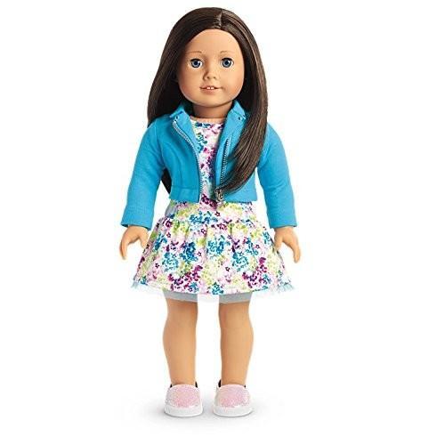 アメリカンガールドールAmerican Girl - 2017 Truly Me Doll: 青 Eyes, 黒-褐色 Hair, Light Skin Tone DN60