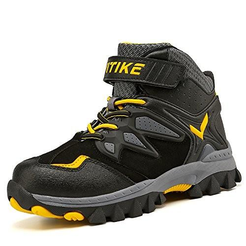 13 Little Kid Kids Warm Anti-Ski Snow Boots Girls High-Top Sneakers Winter Boots Outdoor Waterproof Hiking Boots Antiskid Steel Bu