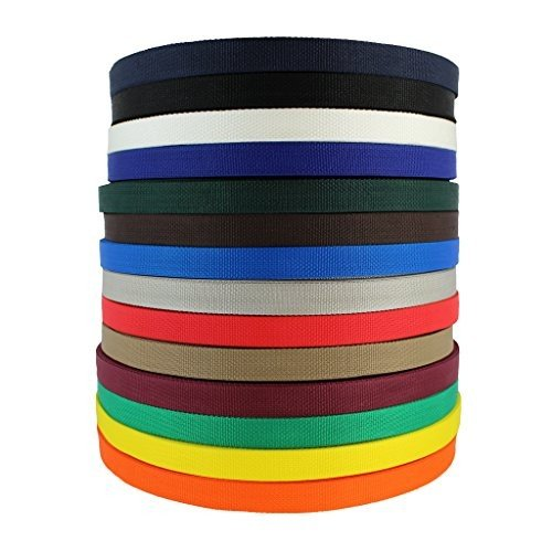 LW 1 inch x 100 yards SGT KNOTS Polypropylene Webbing (LW 1 inch) Lightweight (LW) Polypro Webbing - Polypro Flat Rope - for Backp