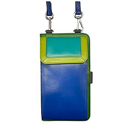 特別価格 Small Tropics) ili RFID New York 6363 Leather Smartphone Crossbody with with RFID Blocking Lining (Cool Tropics), エイプラス:ba288af8 --- sonpurmela.online