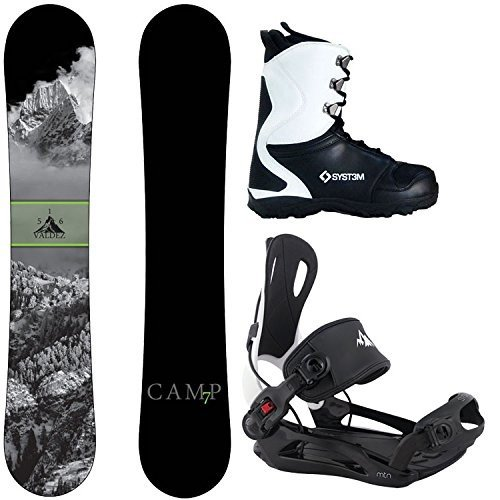 XL Bindings Size 12 Boots Camp Seven Package Valdez Snowboard 159 cm-System MTN Binding XL-System APX Snowboard Boots 12