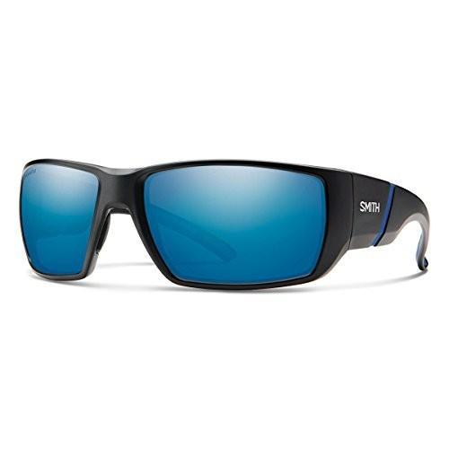 スミスSmith Transfer XL ChromaPop+ Polarized Sunglasses, Matte 黒, 青 Mirror Lens