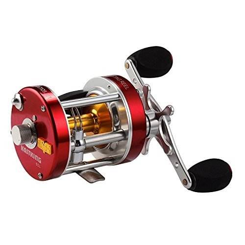 KastKing Rover Round Baitcasting Reel, Left Handed Fishing Reel,Rover40