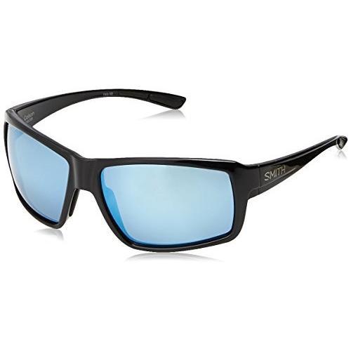 スミスSmith Optics Colson Sunglasses, 黒 Frame, Polar 青 Mirror Techlite Glass Lenses