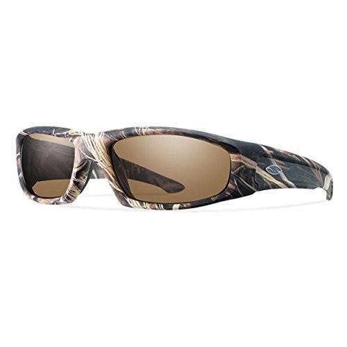 スミスSmith Optics Elite Hudson Tactical Sunglass, Polar 褐色, Realtree Max 4
