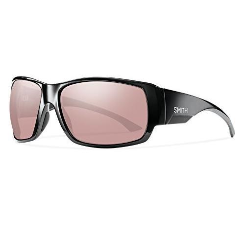スミスSmith Optics Dockside Lifestyle Polarized Sunglasses, 黒/Chromapop Ignitor