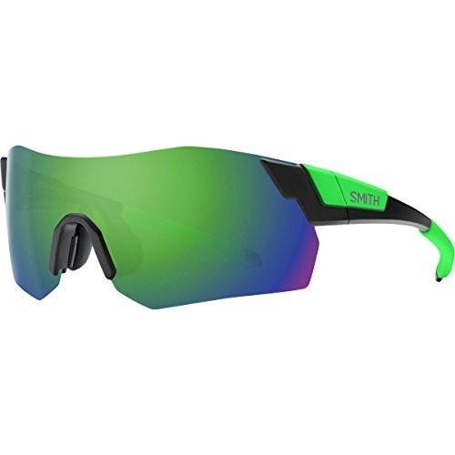 スミスSmith Pivlock Arena Max ChromaPop Sunglasses Matte 黒 Reactor/緑, One Size - Men's