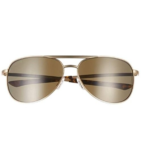 Serpico Slim 2 One Size SMITH Serpico Slim 2 ChromaPop Polarized Sunglasses, ゴールド, 褐色 Lens