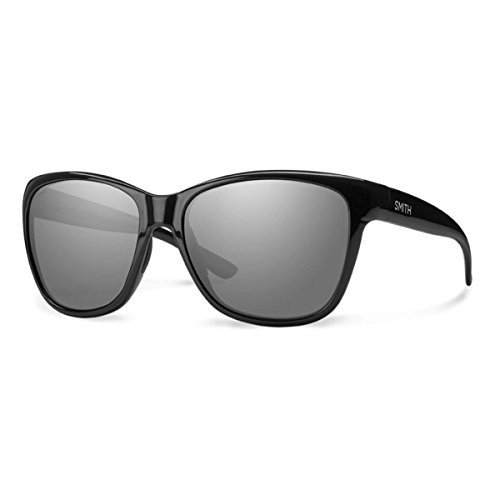 スミスSmith Optics Women's Ramona Sunglasses, 黒 Frame, Polar Gray Carbonic TLT Lenses