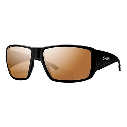 GCMBCM200 One Size Smith Guides Choice Bifocal Polarized Sunglasses - Men's Matte 黒/Copper Mirror 2.00, One Size