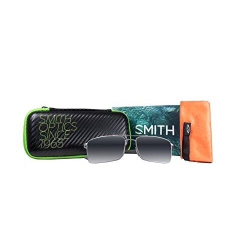OTRPGYMMS One Size Smith Optics Outlier TI Lifestyle Polarized Sunglasses, Matte 銀/Chromapop Platinum
