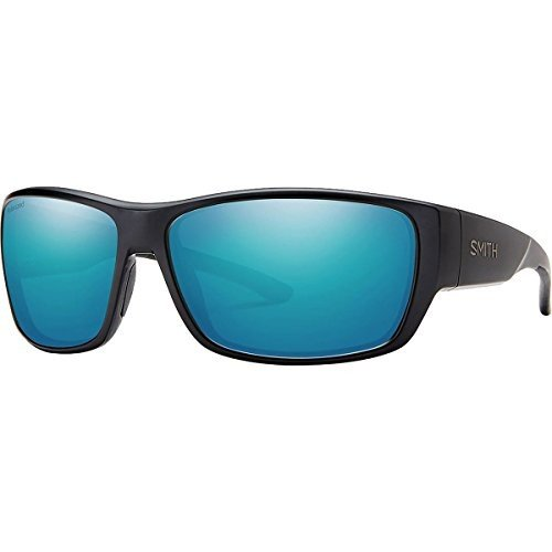 スミスSmith Forge Polarized Sunglasses - Men's Matte 黒/Polarized 青 Mirror, One Size