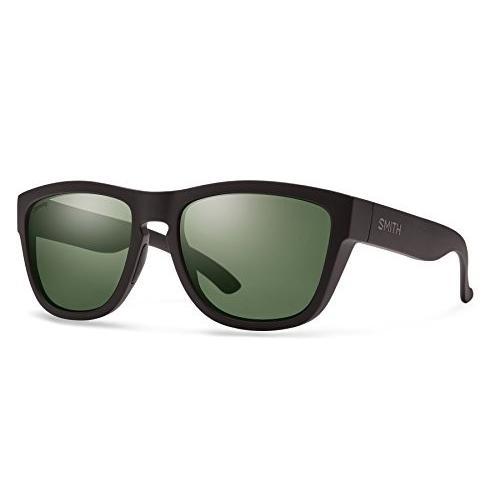 スミスSmith Optics Clark Chroma Pop Polarized Sunglasses (Gray 緑 Lens), Matte 黒