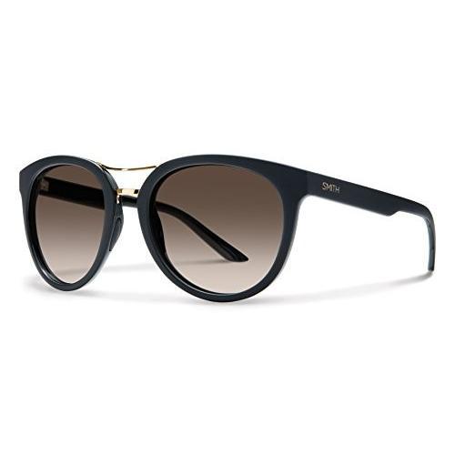 スミスSmith Optics Bridgetown Carbonic Polarized Sunglasses, Matte 黒, Polarized 褐色 Gradient