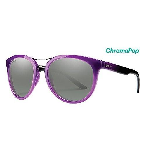 スミスSmith Optics Womens Lifestyle Bridgetown Chromapop Sunglasses - Violet Spray/Platinum