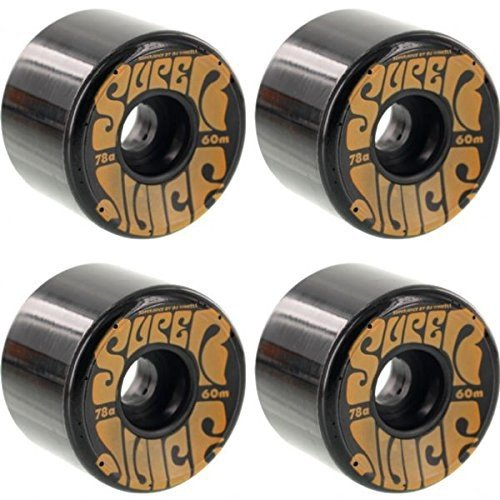 OJ Wheels Super Juice 黒 / オレンジ Longboard Skateboard Wheels - 60mm 78a (Set of 4)