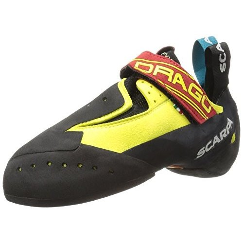 70017/000 3.5 SCARPA Drago Climbing Shoe, Yellow, 4-4.5 Women/3-3.5 Men