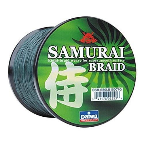 DSB-B40LB300YG 40 lb/300 yd Daiwa Samurai Braid Bait, 緑, 40 lb/300 yd