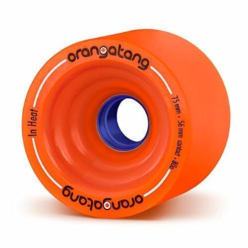 w/ Loaded Jehu V2 bearings Orangatang in Heat 75 mm 80a Downhill Longboard Skateboard Cruising Wheels w/Loaded Jehu V2 Bearings (O