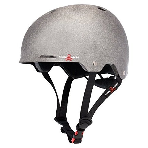 3373 Small/Medium Triple Eight Gotham Dual Certified Skateboard and Bike Helmet, Darklight Reflective, Small/Medium