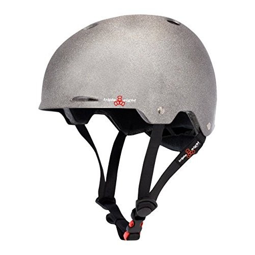 3374 Large/X-Large Triple Eight Gotham Dual Certified Skateboard and Bike Helmet, Darklight Reflective, Large/X-Large