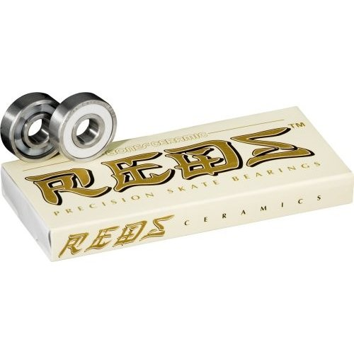 BSCCBC88 8mm Bones Ceramic Super Reds Skateboard Bearings 8 Pack