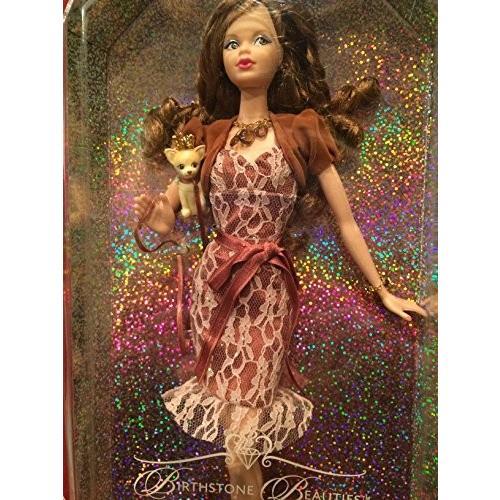 バービーMiss Topaz Birthday Beauties Barbie - November Fair Skin with Brunette Hair