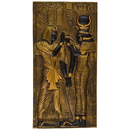 壁飾りDesign Toscano Egyptian Temple Stele Stele Plaque: Isis