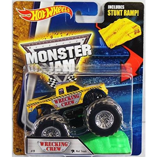 ホットウィールHot Wheels Monster Jam 1:64 Scale Truck with Stunt Ramp - Wrecking Crew Mud Treads #19