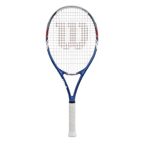 10225 4 3/8-Inch Grip Wilson US Open Strung Tennis Racquet, 4 3/8-Inch, 青/Gray