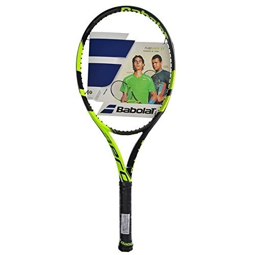 【2019正規激安】 Babolat PurePure N Tennis Aero Strung Plus (+) Extended Yellow/Black Tennis Racquet (4 1/4