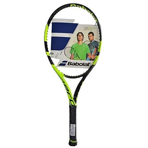 トップ Babolat PurePure Aero Plus (+) Extended Yellow/Black Tennis Racquet (4 3/8