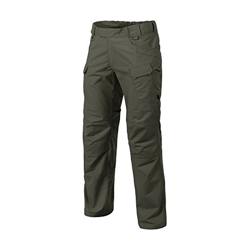 W34 - L34 Helikon-Tex Urban Line, UTP Urban Tactical Pants Ripstop Taiga 緑, Military Ripstop Cargo Style, Men's Waist 34 Lengt