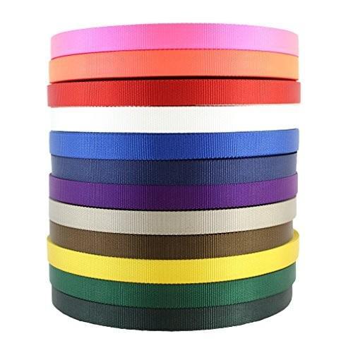 1 inch x 20 yards Nylon Webbing (1 inch) - SGT KNOTS - Nylon Strap - All Purpose Flat Rope - Heavy Duty Webbing - for Crafting, Ga