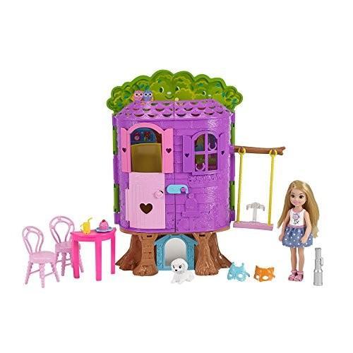 FPF83 Standard Barbie Club Chelsea Treehouse House Playset