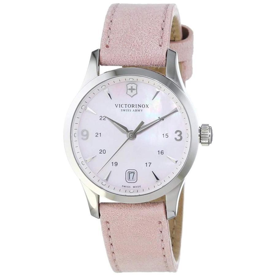 海外ブランド  Victorinox Alliance of Pink Mother of Pearl Dial Alliance Leather Strap Strap Ladies Watch 241663, ナンヨウシ:fd4c1f50 --- airmodconsu.dominiotemporario.com