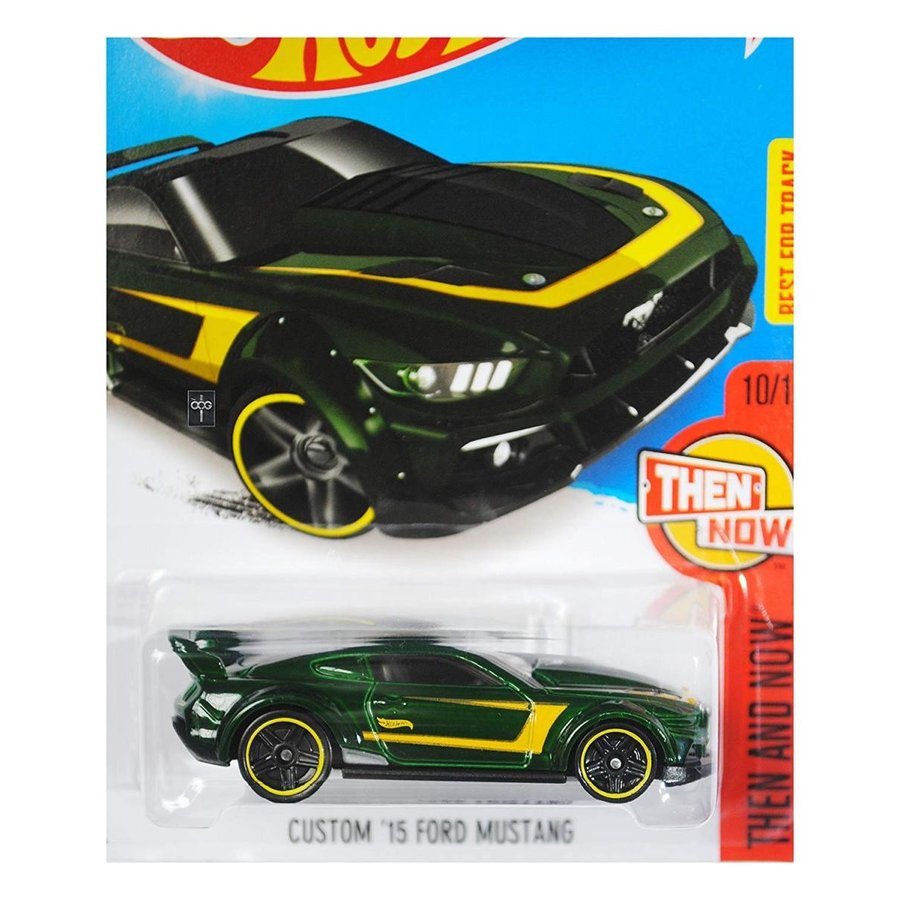 Hot Wheels 2016 Then and Now Custom '15 Ford Mustang 110/250, 緑