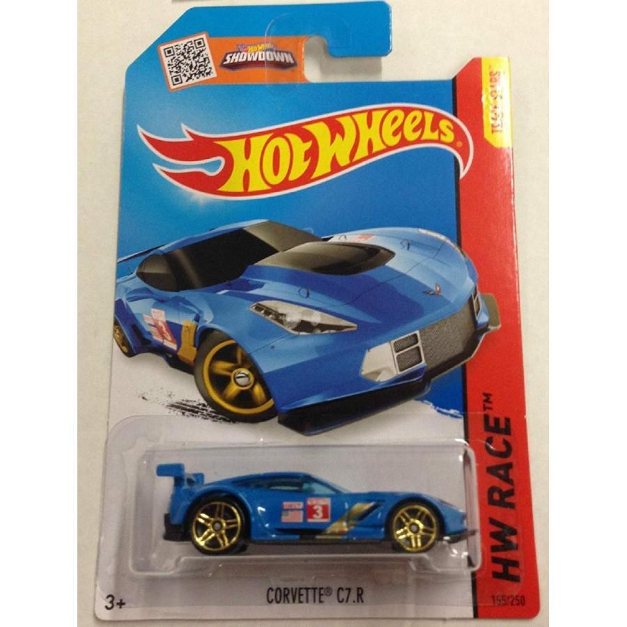 ホットウィールHot Wheels, 2015 HW Race, Corvette C7.R [青] 155/250